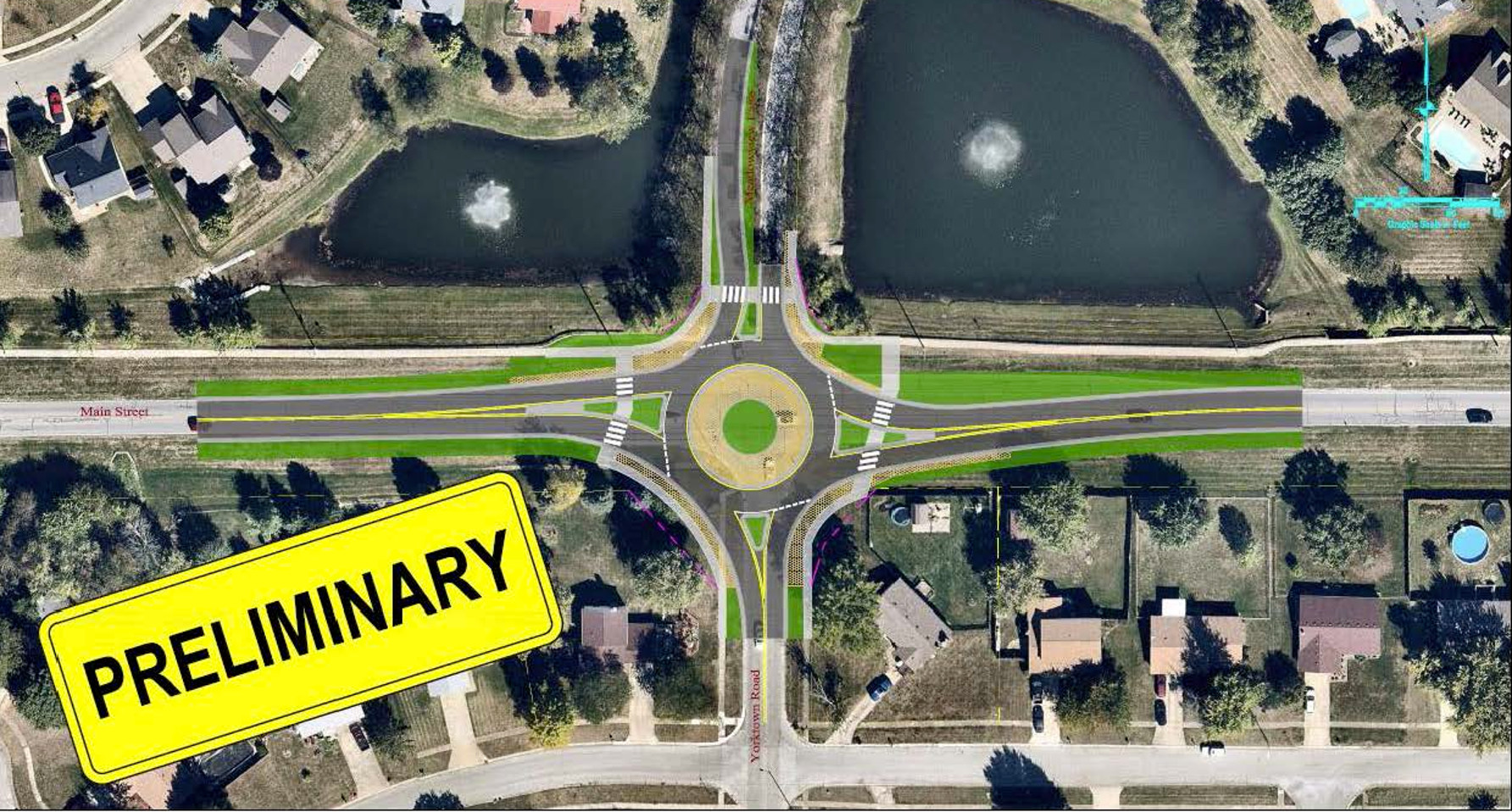 Main/Meadowview Roundabout