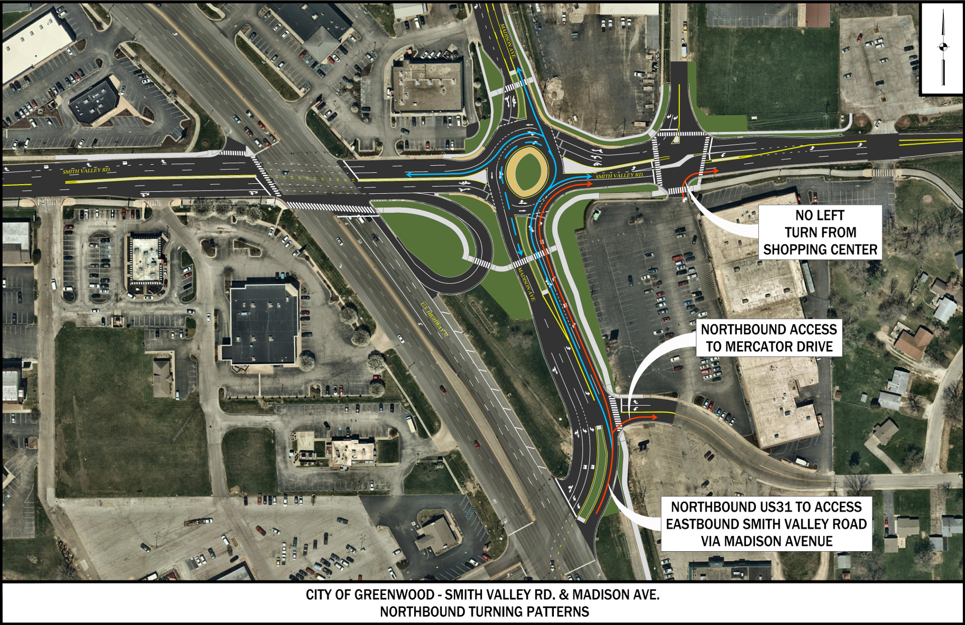 Madison/Smith Valley Roundabout - Northbound Traffic