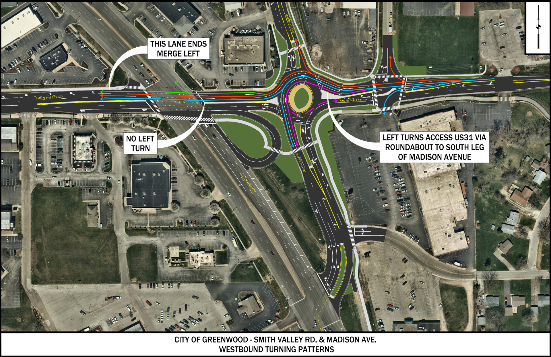 Madison/Smith Valley Roundabout - Westbound Traffic
